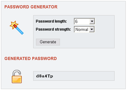 Php password generator