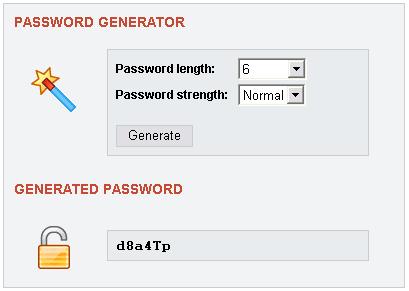 Php password generator